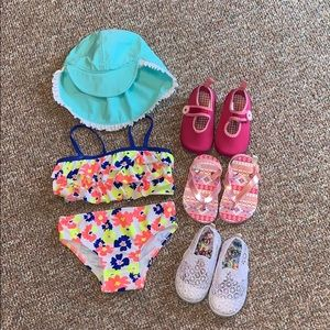 Other - Girls  18 mo bikini with sun hat and shoes
